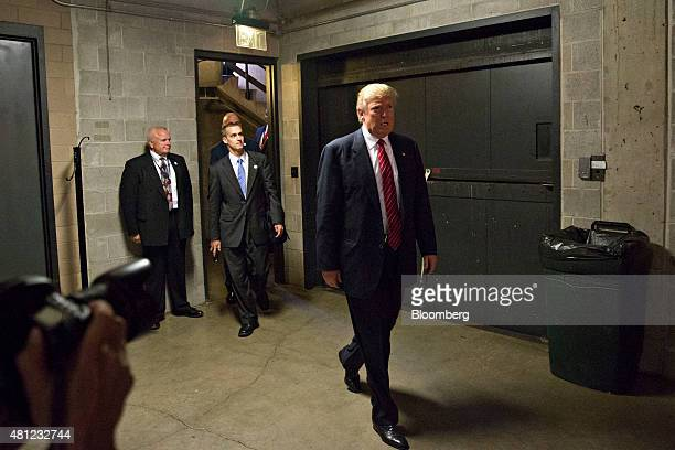 Donald Trump president and chief executive of Trump Organization Inc and 2016 US presidential candidate arrives for a press conference during The...