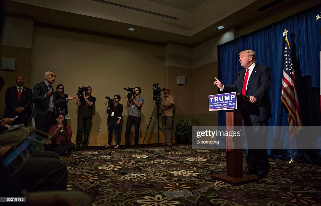 Donald Trump Holds Rally At Grand River Center : News Photo