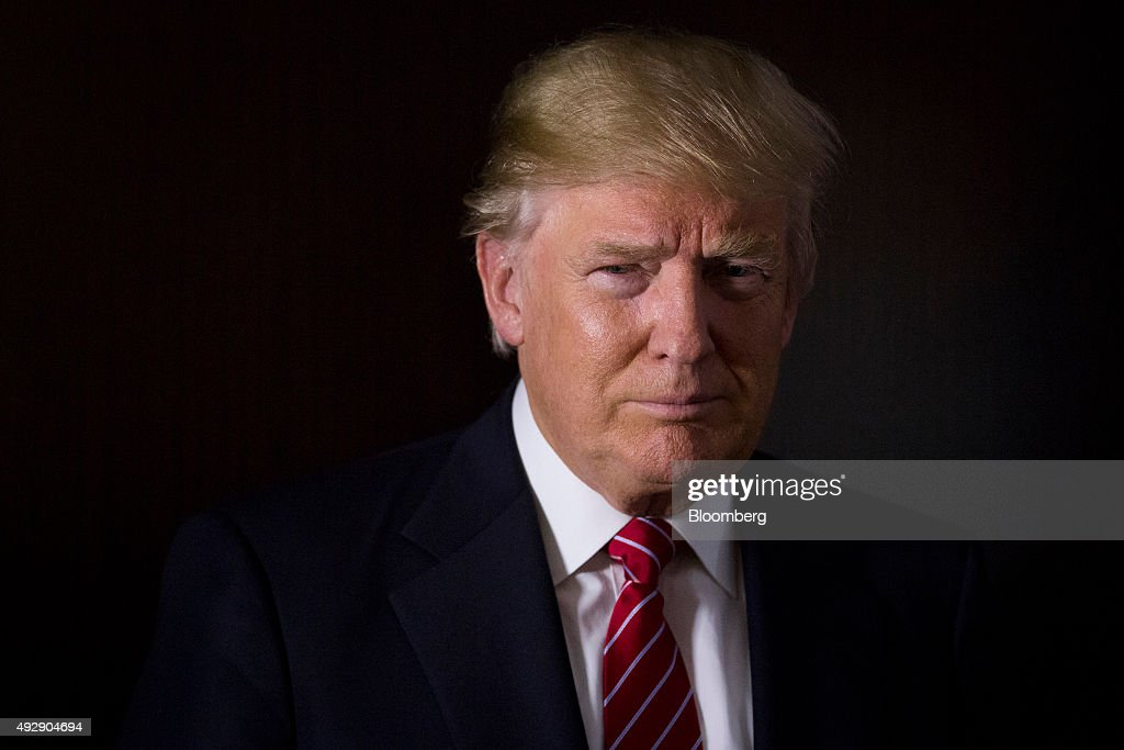 Republican Presidential Candidate Donald Trump Interview : News Photo
