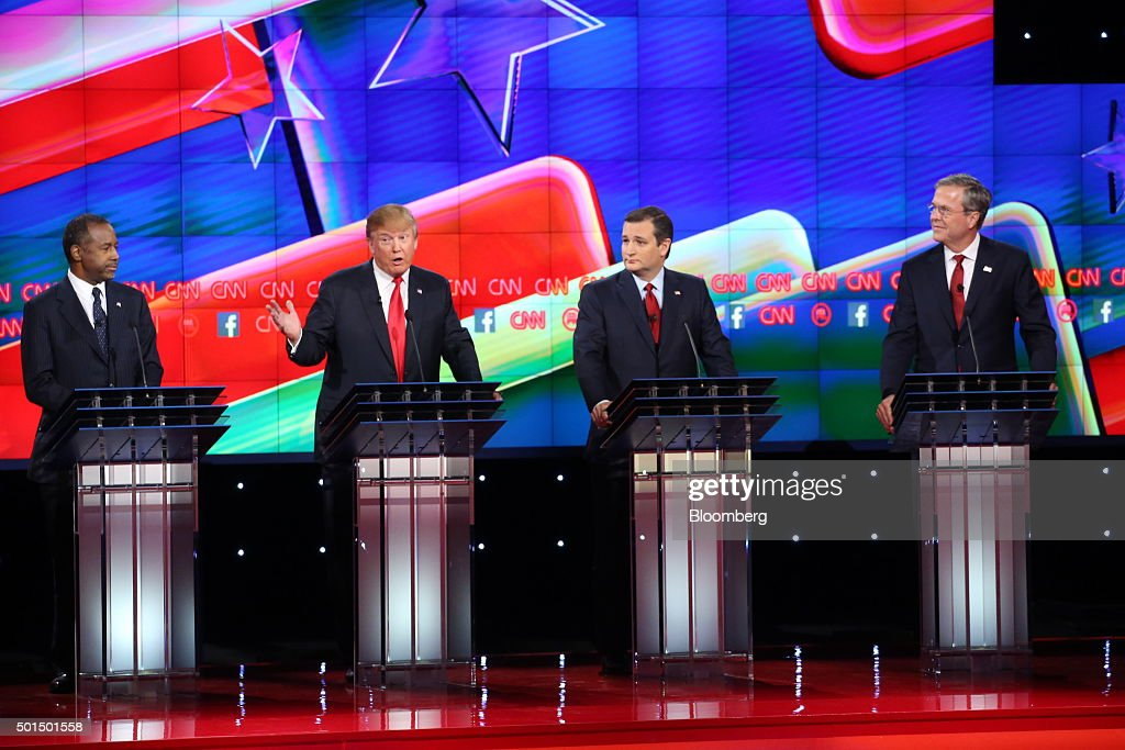 CNN And Facebook Host The Republican Presidential Primary Debate In Las Vegas : News Photo