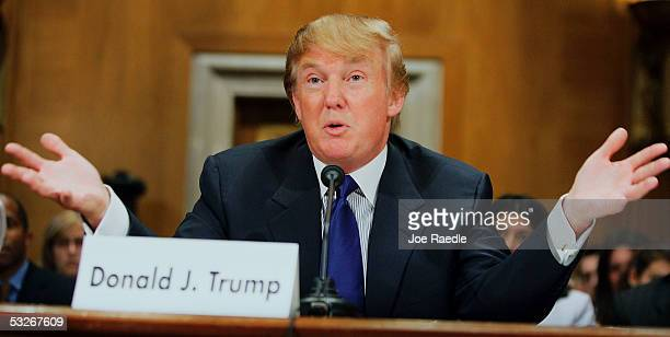 Donald Trump president of the Trump Organization testifies before the Federal Financial Management Government Information and International Security...