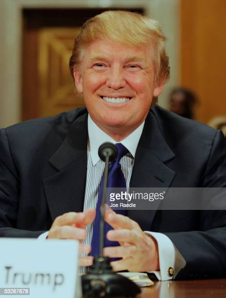 Donald Trump, president of the Trump Organization, testifies before the Federal Financial Management, Government Information, and International...