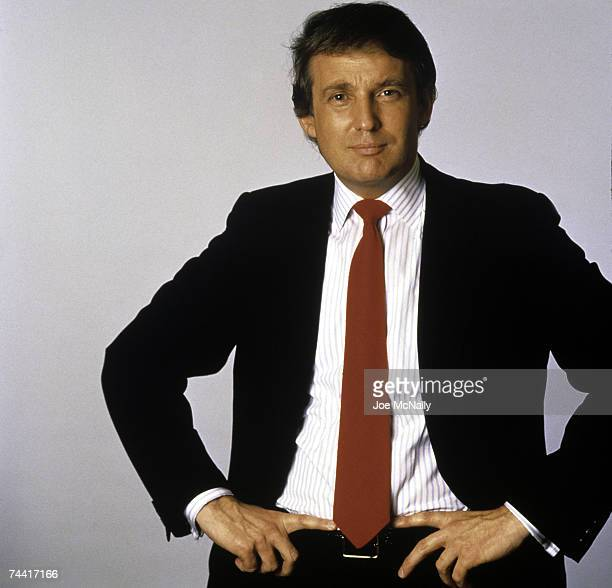 Donald Trump real estate mogul entrepreneur and billionare poses for a portrait on August 1987 in New York City