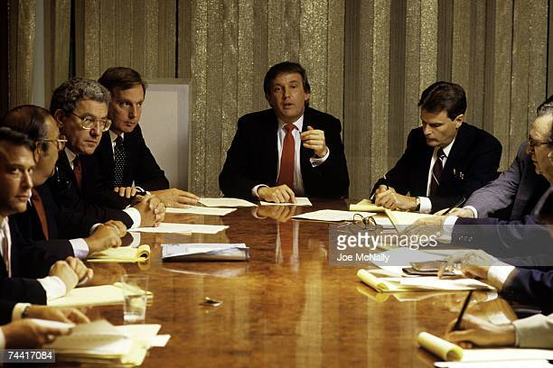 Donald Trump real estate mogul entrepreneur and billionare spends most of his day attending board meetings in which he manages the construction of...