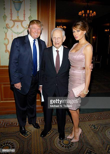 Donald Trump Robert M Morgenthau and Melania TrumpTrump attend the 37th Annual Police Athletic League Superstar Award Dinner at The Pierre Hotel on...