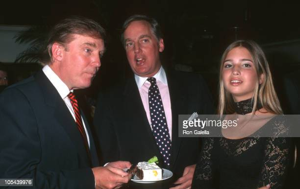 Donald Trump Robert Trump and Ivanka Trump during Donald Trump 50th Birthday Party at Trump Tower in New York City New York United States