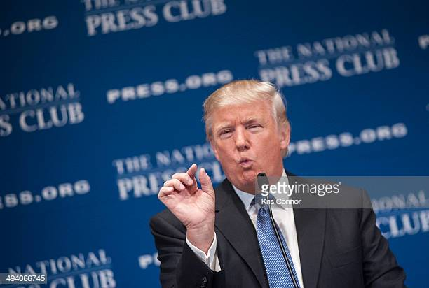 Donald Trump speaks about building 'The Trump Brand' during a luncheon at The National Press Club on May 27 2014 in Washington DC
