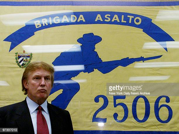 Donald Trump speaks at Miami museum dedicated to Cuban freedom fighters who died in the botched 1961 Bay of Pigs invasion Trump was on a trip to...