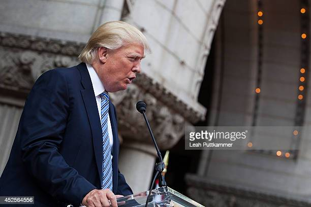 Donald Trump speaks at the Trump International Hotel Washington, D.C Groundbreaking Ceremony on July 23, 2014 in Washington, DC.