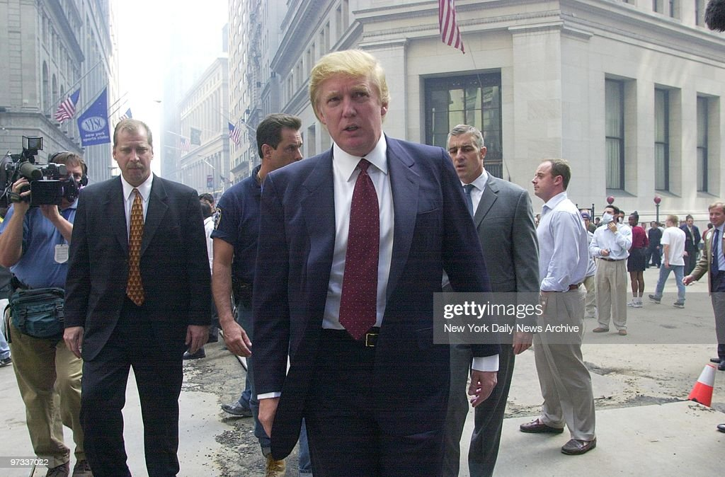 Donald Trump speaks outside the New York Stock Exchange. A w : News Photo