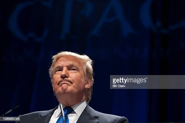 Donald Trump speaks to the CPAC meeting, held by the American Conservative Union in Washington on Thursday, Feb. 10, 2010.