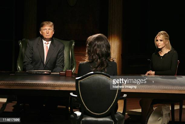 Donald Trump Stefani Schaeffer and Ivanka Trump during 'The Apprentice' Season 6 Finale at The Hollywood Bowl at Hollywood Bowl in Hollywood...