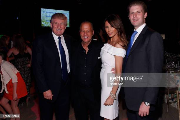 """Donald Trump, Stewart Rahr, Melania Trump and Eric Trump attend """"An Evening of Wishes"""", Make-A-Wish Metro New York's 30th Anniversary Gala at..."""