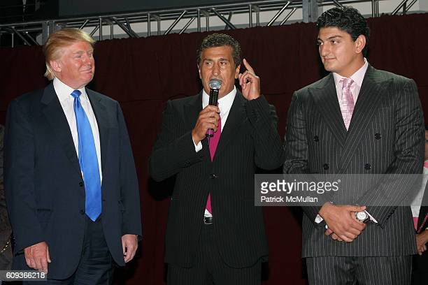 Donald Trump Tevfik Arif and attend Trump Soho Hotel Condominium Launch Party at Tribeca Rooftop on September 19 2007 in New York City