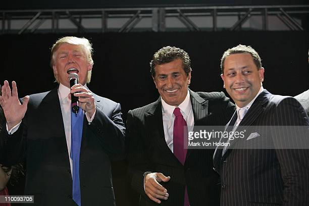 Donald Trump Tevfik Arif and Felix Sater attend the Trump Soho Launch Party on September 19 2007 in New York