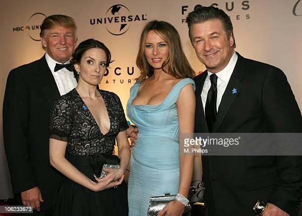 Donald Trump Tina Fey Melania Trump and Alec Baldwin