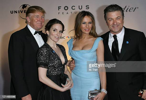 Donald Trump Tina Fey Melania Trump and Alec Baldwin