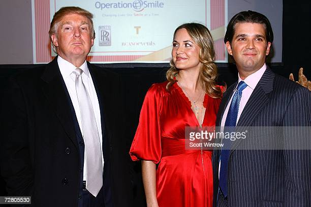 Donald Trump Vanesssa Trump and Donald Trump Jr attend a birthday celebration for Vanessa and Donald Jr in support of Operation Smile at FAO Schwartz...
