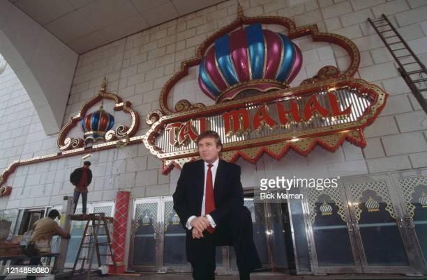 "Donald Trump visite son nouveau casino ""Trump Taj Mahal"" à Atlanta City"
