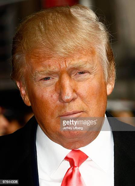 Donald Trump visits Late Show With David Letterman at the Ed Sullivan Theater on March 11 2010 in New York City