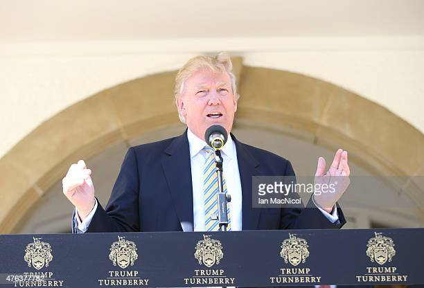 Donald Trump Visits Turnberry Golf Club after its $10 Million refurbishment on June 8 2015 in Turnberry Scotland