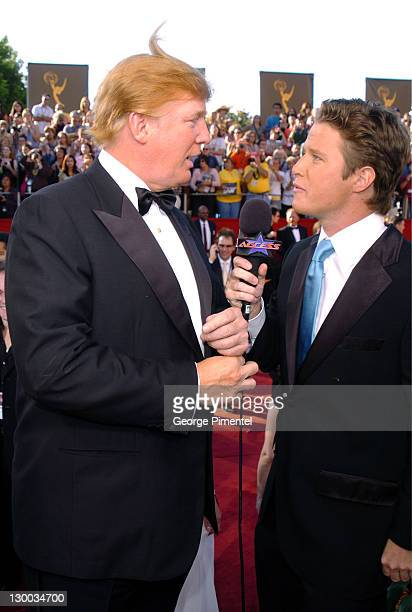 Donald Trump with Billy Bush during The 56th Annual Primetime Emmy Awards Red Carpet at The Shrine Auditorium in Los Angeles California United States