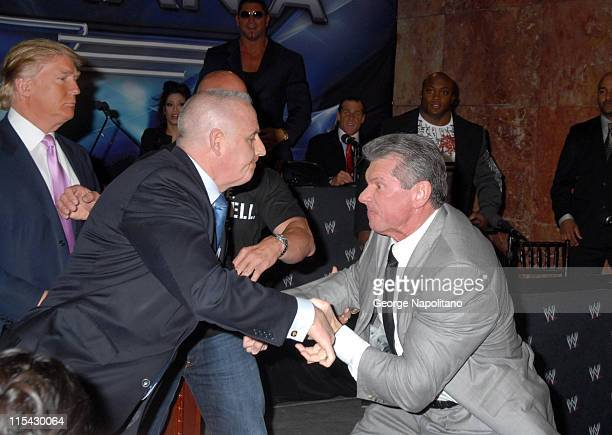 Donald Trump's security guard fights with Vince McMahon