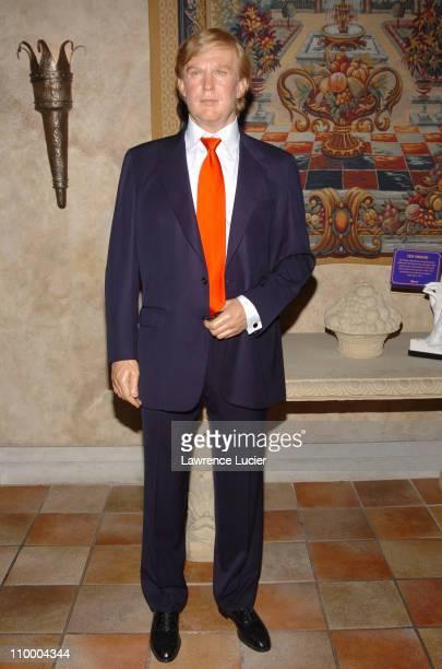 Donald Trump's wax figure during Madame Tussauds New York Unveils The Jennifer Aniston Experience at Madame Tussauds New York in New York City New...