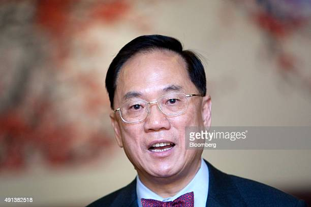 Donald Tsang Hong Kong's chief executive speaks to the media after meeting with officials in Beijing China on Wednesday Dec 22 2010 Tsang who...