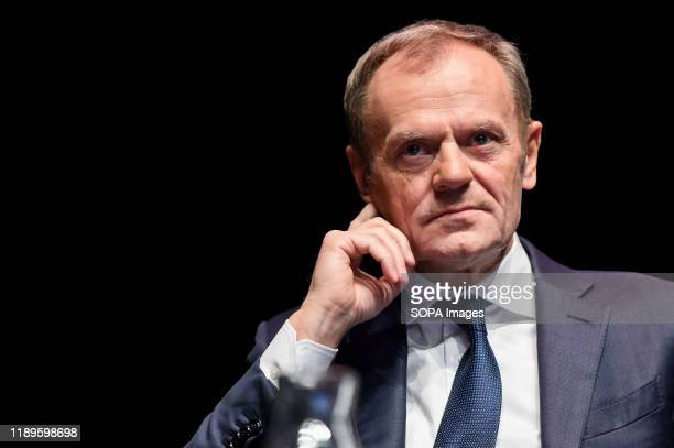 Donald Tusk during the event. Donald Tusk book promotion event was held at the European Solidarity Centre, Donald Tusk is co-founder of the Liberal...