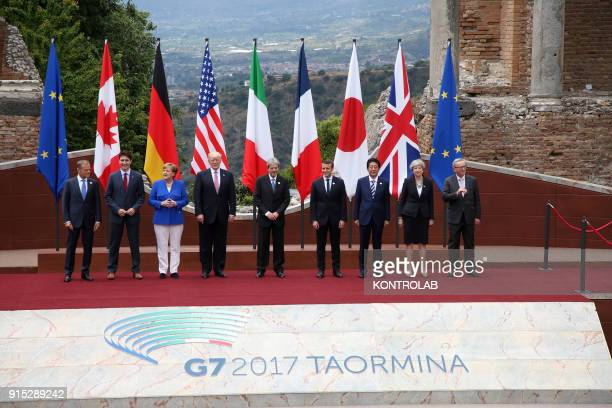 Donald Tusk President of the European Council Justin Trudeau Angela Merkel Chancellor Germany Donald Trump President United States Paolo Gentiloni...