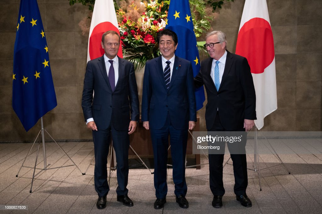 European Commission President Jean-Claude Juncker in Tokyo for EU-Japan Summit