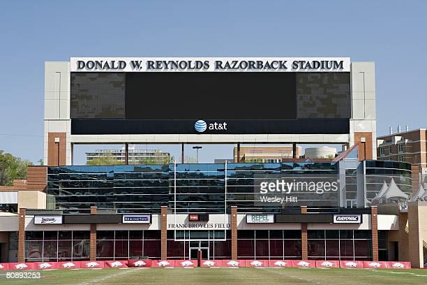 Donald W. Reynolds Stadium home of the Arkansas Razorbacks before their Spring Red vs White game on April 26, 2008 in Fayetteville, Arkansas. The Red...