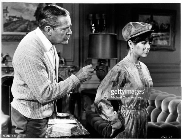 Donald Woods gives Shelley Fabares some sound advice in a scene from the movie A Time to Sing circa 1968
