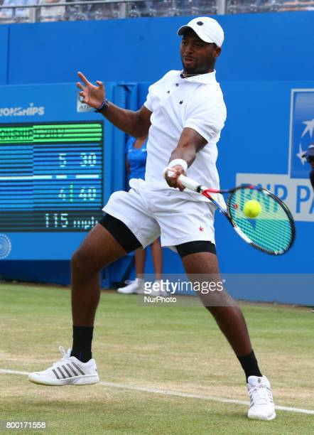 Donald Young against Marin Cilic CRO during Men's Singles Quarter Final match on the fourth day of the ATP Aegon Championships at the Queen's Club in...