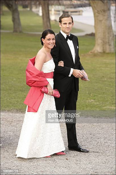 Donas Bergstrom and Emma Pernald boyfriend of Madeleine and girlfriend of Karl Philip of Sweden in Stockholm Sweden on April 29 2006