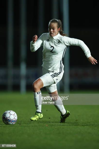 Donata von Achten of Germany in action during the U16 Girls international friendly match betwwen Denmark and Germany at the Skive Stadion on November...