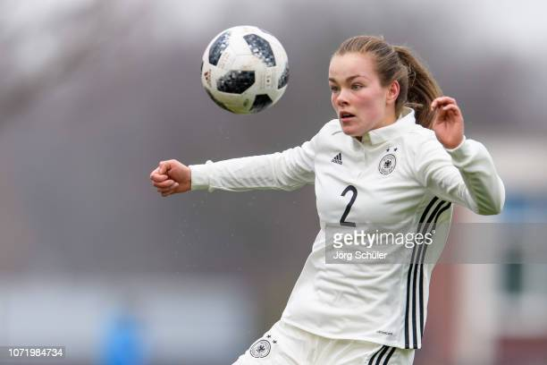 Donata von Achten of Germany in action during the U17 Girl's international friendly match between Germany and Netherlands at the Sportpark on...