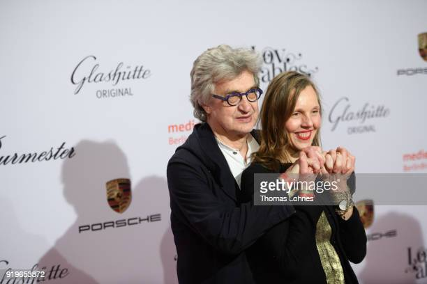 Donata Wenders and Wim Wenders attend the Medienboard BerlinBrandenburg Reception at The 68th Berlinale International Film Festival on February 17...