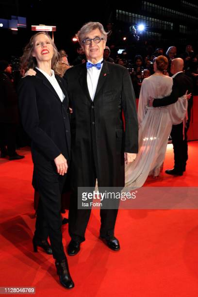 Donata Wenders and Wim Wenders attend the The Kindness Of Strangers premiere during the 69th Berlinale International Film Festival Berlin at...
