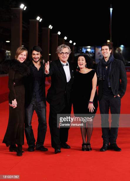 Donata Wenders Damiano Ottavio Bigi director Wim Wenders actress Cristiana Morganti and Roberto Bolle attend the ''Pina' Premiere during the 6th...