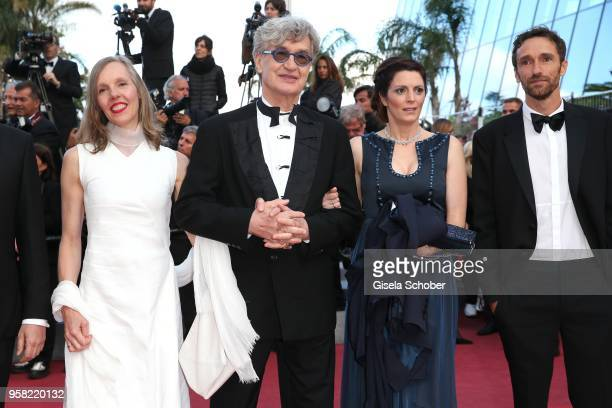 Donata Wenders director Wim Wenders Samanta Gandolfi Branca and Alessandro Lo Monaco attend the screening of Sink Or Swim during the 71st annual...