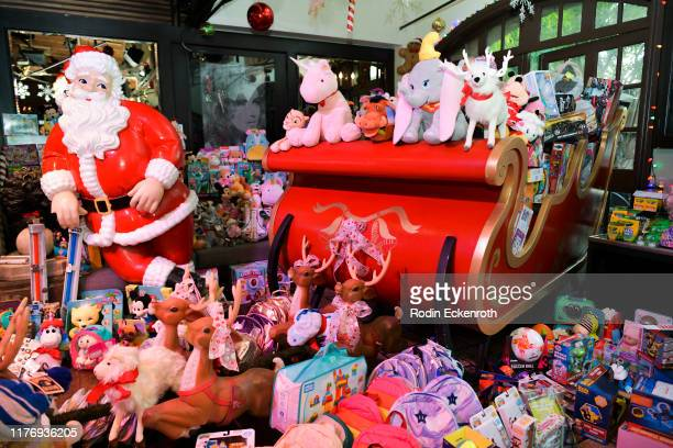 Donated toys at the Children's Hospital of Los Angeles Christmas In September Toy Drive at The Abbey on September 24 2019 in West Hollywood California