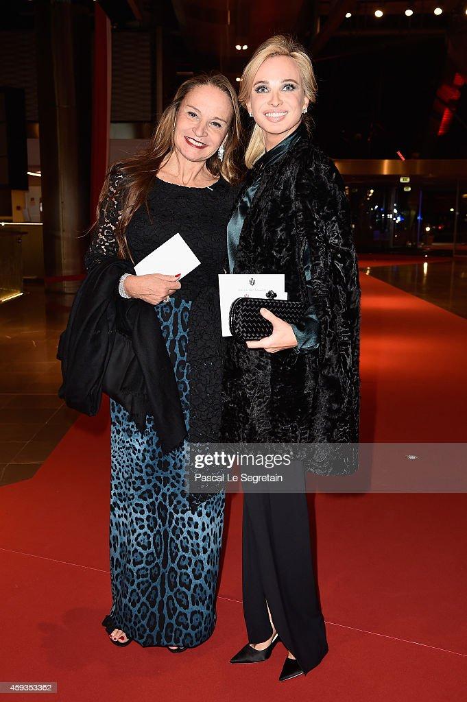 Donatella Campioni and Corinna Sayn-Wittgenstein attend the Monaco National Day Gala in Grimaldi Forum on November 19, 2014 in Monaco, Monaco.