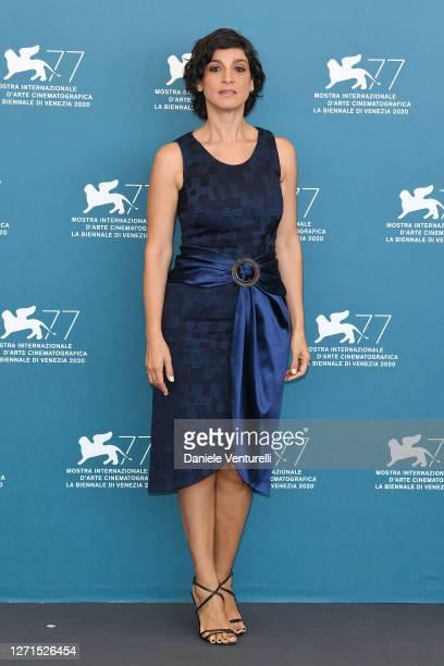 Donatella Finocchiaro attends the photocall of the movie Le Sorelle Macaluso at the 77th Venice Film Festival on September 09 2020 in Venice Italy