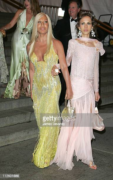 Donatella Versace and Allegra Beck during 'Chanel' Costume Institute Gala at The Metropolitan Museum of Art Departures at The Metropolitan Museum of...