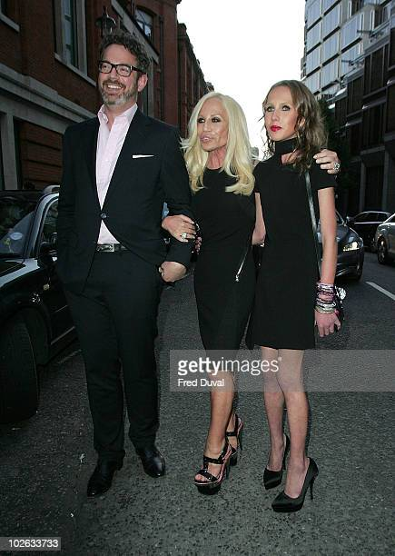 Donatella Versace and Allegra Versace attend private view of Mario Testino's 'Kate Who' at Phillips de Pury And Company on July 5 2010 in London...
