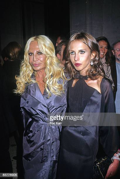 Donatella Versace and Allegra Versace attend the Suzy Menkes 20th Fashion Anniversary at the Musee Galliera on on September 27 2008 in Paris France