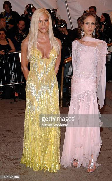 Donatella Versace and Allegra Versace during 'Chanel' Costume Institute Gala Opening at the Metropolitan Museum of Art Arrivals at Metropolitan...