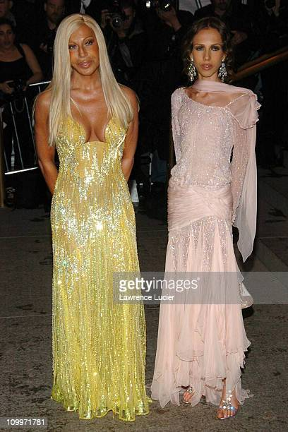 Donatella Versace and Allegra Versace during Chanel Costume Institute Gala Opening at the Metropolitan Museum of Art Arrivals at Metropolitan Museum...